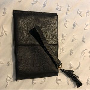 INC Black wristlet with tassel